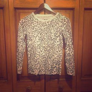Cheetah print long sleeve t-shirt size 10